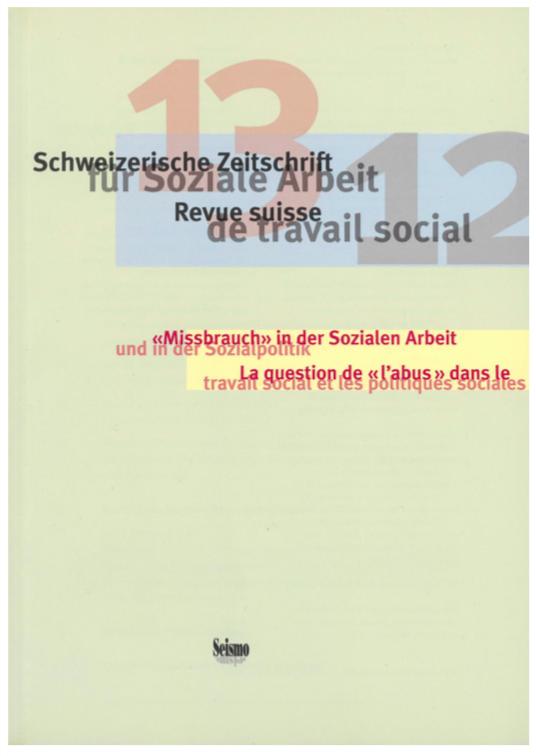 View No. 13 (2012): Schweizerische Zeitschrift für Soziale Arbeit / Revue suisse de travail social