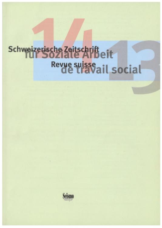 View No. 14 (2013): Schweizerische Zeitschrift für Soziale Arbeit / Revue suisse de travail social