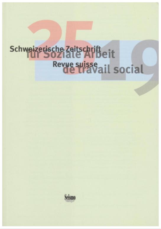 View No. 25 (2019): Schweizerische Zeitschrift für Soziale Arbeit / Revue suisse de travail social
